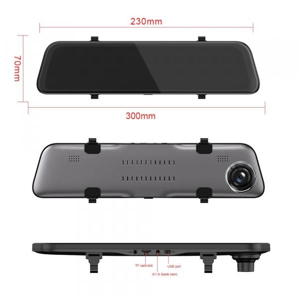 Oglinda retrovizoare Star Senatel S11, 2K, 12 inch, 170°, Hisilicon Hi3556, Touchscreen, Dual Camera, Giroscop 3
