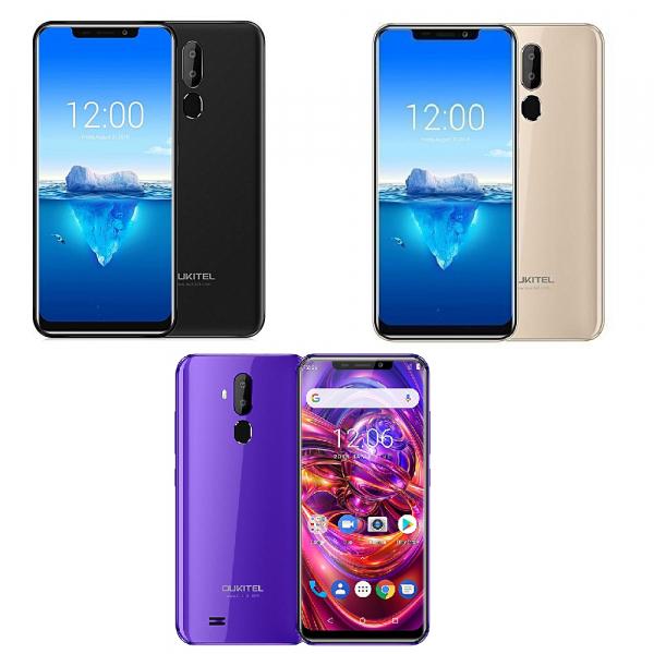 Telefon mobil Oukitel C12 Pro, 6.18 inch 19:9, Android 8.1,MediaTek MT6739 QuadCore, 2GB RAM, 16GB ROM, Face ID, Amprenta, 3300mAh 0