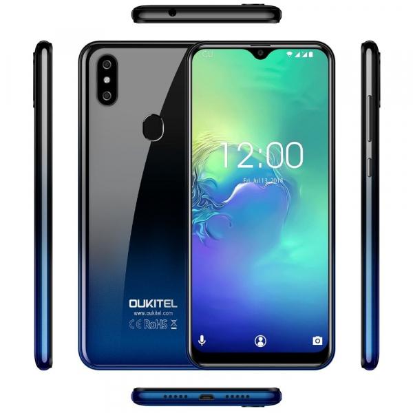 Telefon mobil Oukitel C15 Pro+, IPS 6.09inch,3GB RAM, 32GB ROM, Android 9.0, QuadCore, Face ID, Amprenta, Dual SIM 14
