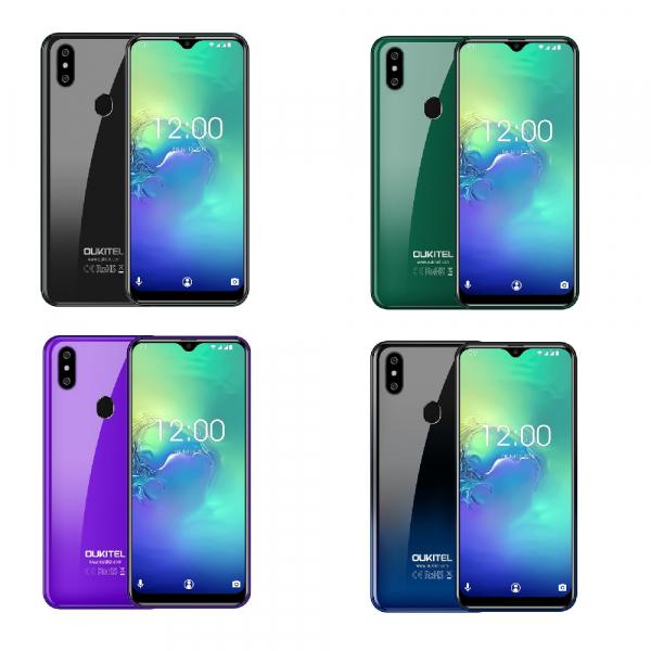 Telefon mobil Oukitel C15 Pro+, IPS 6.09inch, 3GB RAM, 32GB ROM, Android 9.0, QuadCore, Face ID, Amprenta, Dual SIM imagine dualstore.ro 2021