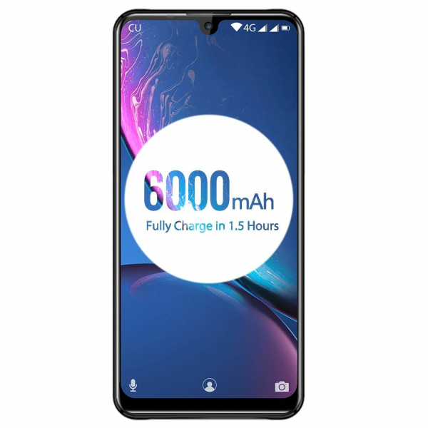 Telefon mobil Oukitel K9, Waterdrop 7.12 inch FHD+, 4GB RAM, 64GB ROM, 6000mAh, Android 9.0, Face ID, Dual SIM 1