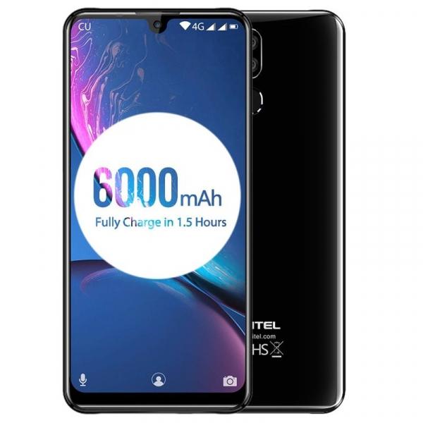 Telefon mobil Oukitel K9 Negru Resigilat, Waterdrop 7.12 inch FHD+, 4GB RAM, 64GB ROM, 6000mAh, Android 9.0, Face ID, Dual SIM imagine