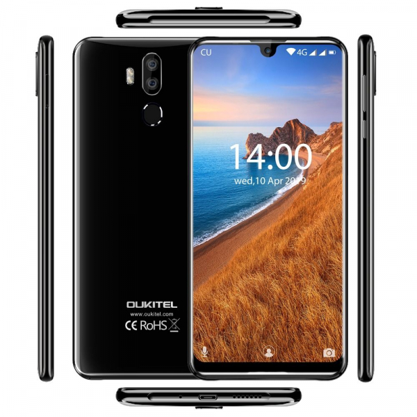 Telefon mobil Oukitel K9, Waterdrop 7.12 inch FHD+, 4GB RAM, 64GB ROM, 6000mAh, Android 9.0, Face ID, Dual SIM 3