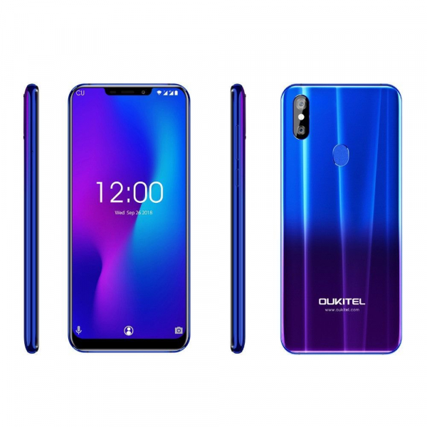 Telefon mobil Oukitel U23, 6.18 inch Notch Display, Android 8.1, MTK6763T Helio P23 OctaCore, 6G RAM,64G ROM, Incarcare Wireless, Face ID 1