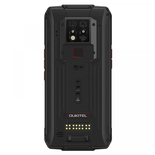 Pachet telefon mobil Oukitel WP7 8/128 cu modul sterilizator UVC si modul lanterna, Negru 4