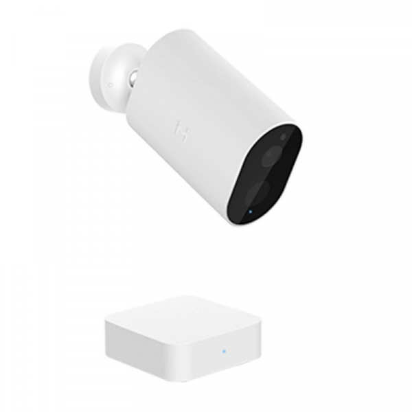 Pachet camera de supraveghere wireless Xiaomi IMILAB EC2 cu Gateway, 1080p, Detectare PIR, Night vision, Cloud, IP66, 5100mAh, Global, Alb imagine