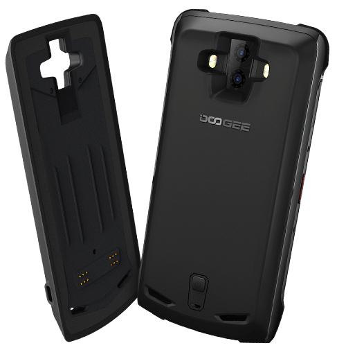 Pachet telefon mobilmodularDoogee S90 Android 8.1 OctaCore 6GB RAM 128GB ROM Waterproof + Modul baterie 5000mAh 2