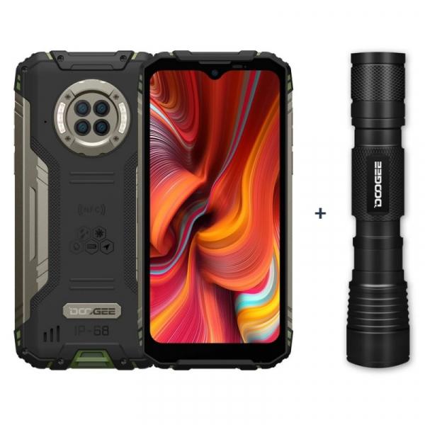 Pachet telefon mobil Doogee S96 Pro Verde + Lanterna cu infrarosu Doogee IR LED Flashlight, 4G, LCD 6.22 , 8GB RAM, 128GB ROM, Android 10