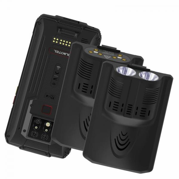 Pachet telefon mobil Oukitel WP7 8/128 cu modul sterilizator UVC si modul lanterna, Negru 0