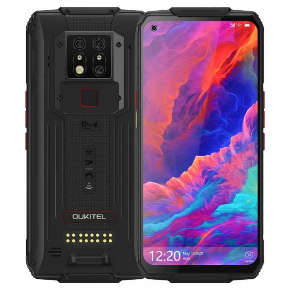 Pachet telefon mobil Oukitel WP7 8/128 cu modul sterilizator UVC si modul lanterna, Negru 2