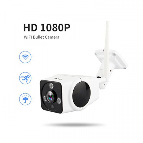 Panoramic Camera V380, 2 MP, Unghi de vizualizare 360 grade, Waterproof, Wireless, Night Vision, Microfon, Difuzor, Slot Card imagine