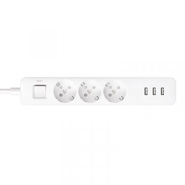 Prelungitor Xiaomi Mi Power Strip, 3 prize, 3 port-uri USB, 16A, 3680W, 1.4m cablu 2
