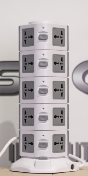 Priza verticala securizata 19 porturi universale + 2 USB imagine dualstore.ro 2021