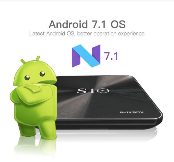 R-TV BOX S10 KODI 18 DDR4 3GB eMMC 32GB Android 7.1 4K TV Box S912 AC WIFI Gigabit LAN Bluetooth 4.1 1