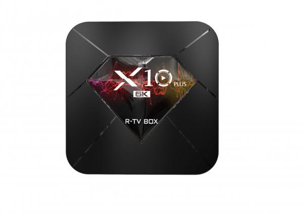 R-TV BOX X10 Plus, 6K, Android 9.0, Allwinner H6 CPU, QuadCore,2.4G WiFi, 4GB RAM, 32GB ROM, USB 3.0 1