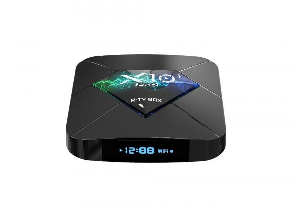 R-TV BOX X10 PRO Smart Media Player, 3D, 4K HDR, RAM 4GB, ROM 64GB, Android 8.1, Quad Core 2