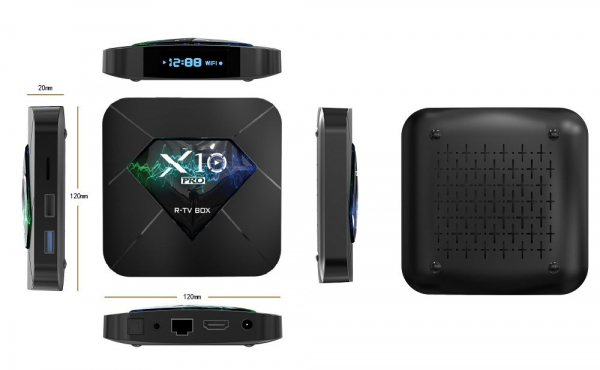 R-TV BOX X10 PRO Smart Media Player, 3D, 4K HDR, RAM 4GB, ROM 64GB, Android 8.1, Quad Core 0