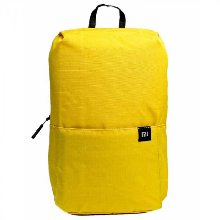 Rucsac Xiaomi Mini Backpack Galben, 7 litri, Rezistent la apa si la uzura, Catarama ajustabila Nx Lite, Buzunar frontal imagine dualstore.ro 2021