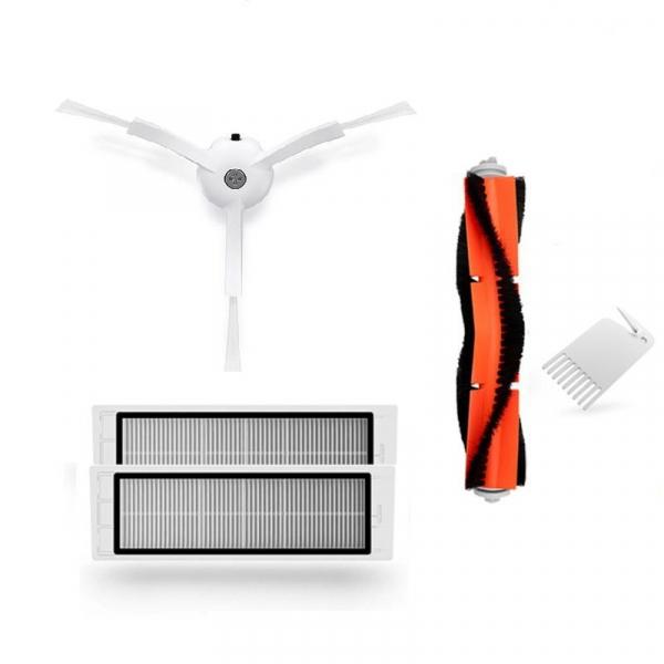 Set accesorii pentru Aspirator Xiaomi Mijia Roborock Vacuum Cleaner 2, Perie rotativa, Perie laterala, Filtru imagine
