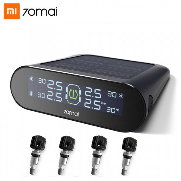 Sistem Monitorizare presiune roti Xiaomi 70MAI TPMS MiDrive T01, Solar, LCD, 500mAh 0