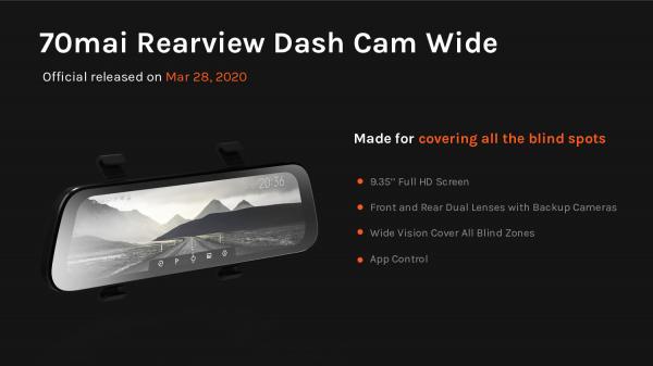 Oglinda retrovizoare smart Xiaomi 70MAI Rearview Dash Cam Wide D07 5