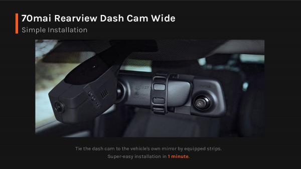Oglinda retrovizoare smart Xiaomi 70MAI Rearview Dash Cam Wide D07 7