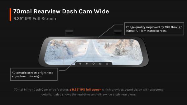Oglinda retrovizoare smart Xiaomi 70MAI Rearview Dash Cam Wide D07 6