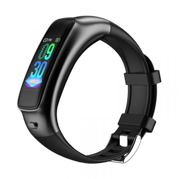Smartband 2 in 1 cu casca bluetooth STAR TB02 Negru, TFT 0.96 Touch screen, Ritm cardiac, Contor calorii, IP65, 100mAh