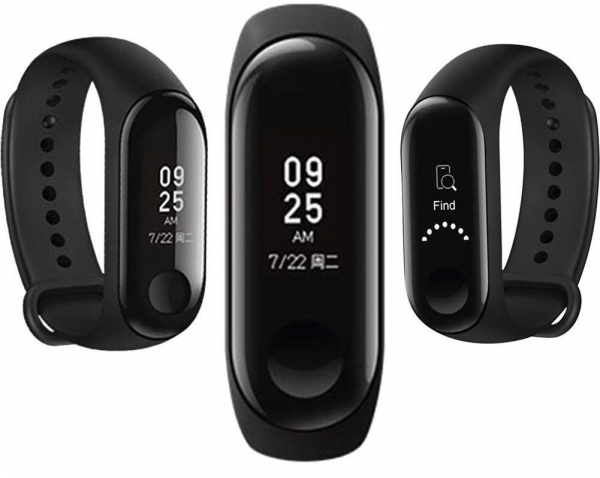 Smartband Xiaomi Mi Band 3 Global, folie protectie cadou, Waterproof, Touch OLED 0.78 inchi, Pedometru, Notificari, Ritm cardiac 0