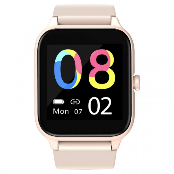Smartwatch Blackview R3 Pro Roz, TFT 1.54 Touch screen, Ritm cardiac, Calorii, Fitness tracker, Monitorizare somn, IP68, 280mAh imagine dualstore.ro 2021