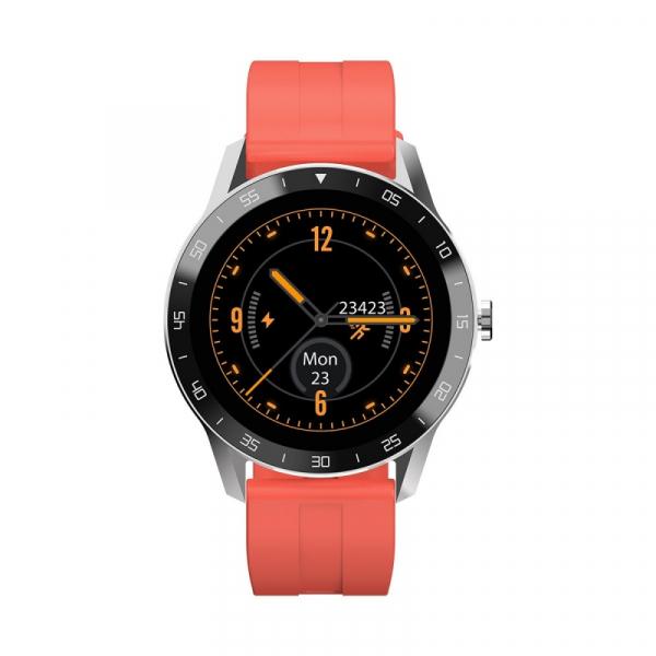 Smartwatch Blackview X1, LCD 1.3inch curbat 3D, 64MB ROM, Nodic nRF52832, Bluetooth v5.0, 260mAh, Curea cadou, Silver imagine