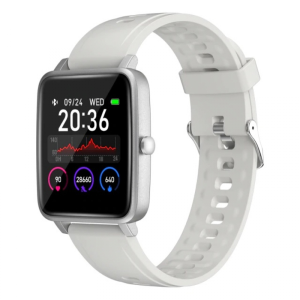 Smartwatch Doogee CS1 Silver, 1.4 Touch screen, Ritm cardiac, Control camera si muzica, Meteo, Monitorizare somn, IP68, 200mAh imagine dualstore.ro 2021