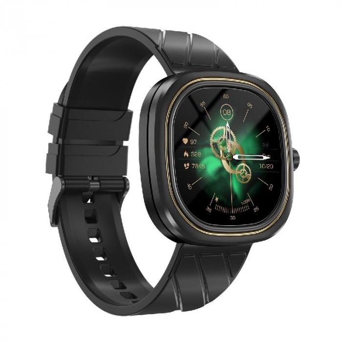 Smartwatch Doogee DG Ares Negru cu bratara din silicon [2]