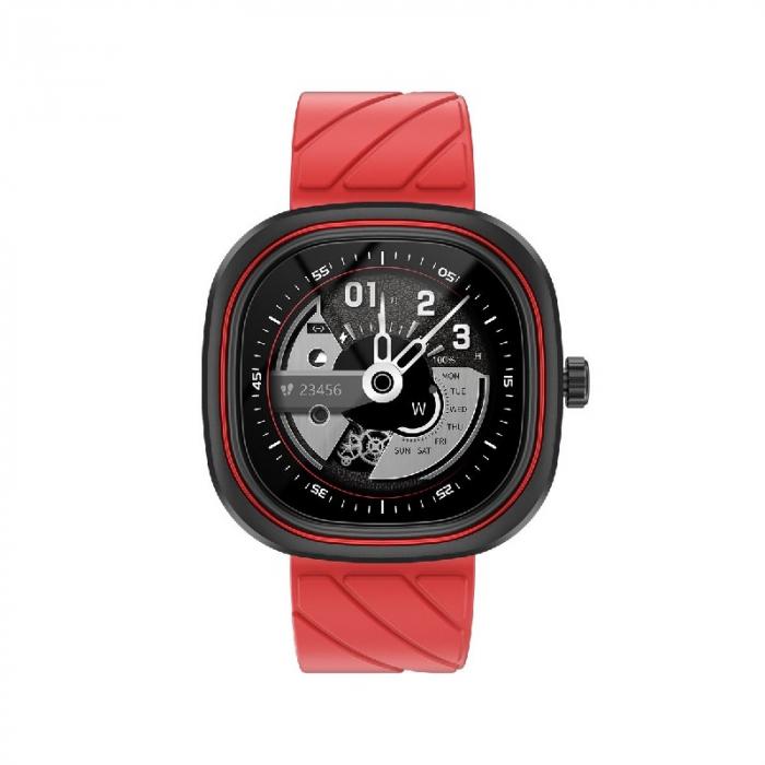 Smartwatch Doogee DG Ares Rosu cu bratara din silicon [0]