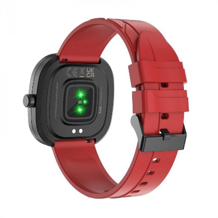 Smartwatch Doogee DG Ares Rosu cu bratara din silicon [3]