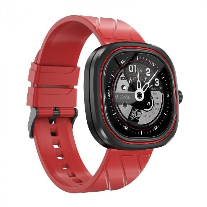 Smartwatch Doogee DG Ares Rosu cu bratara din silicon [2]