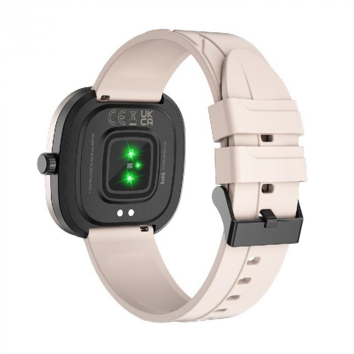 Smartwatch Doogee DG Ares Gold cu bratara din silicon [3]