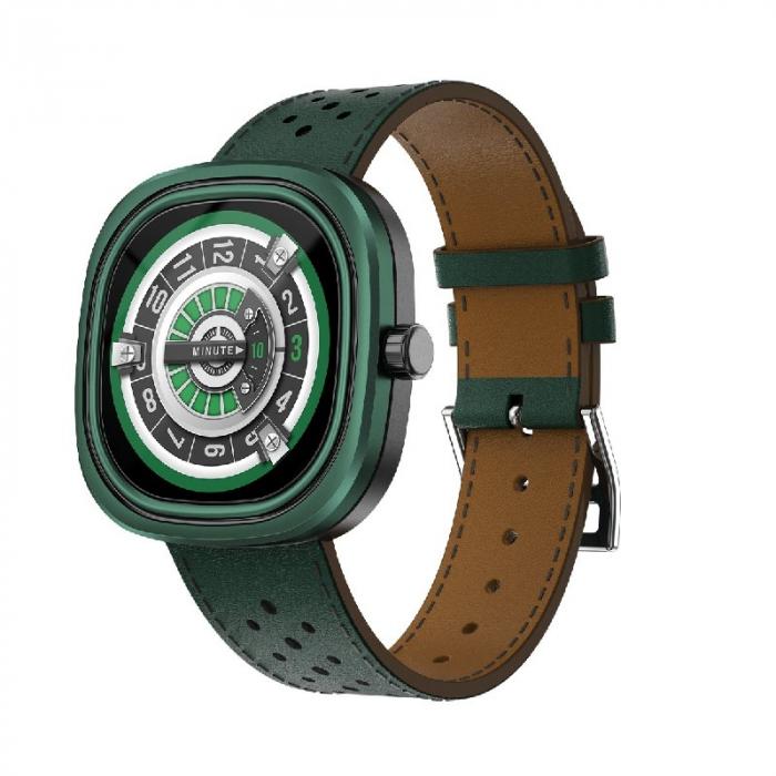 Smartwatch Doogee DG Ares Verde cu bratara din piele [1]
