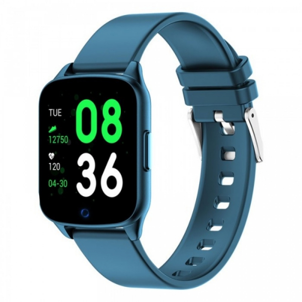 Smartwatch iHunt Watch Me 2020 Albastru, TFT 1.3 , Ritm cardiac, Nivel oxigen in sange, Tensiune arteriala, Calorii, Hidratare, 130mAh imagine dualstore.ro 2021