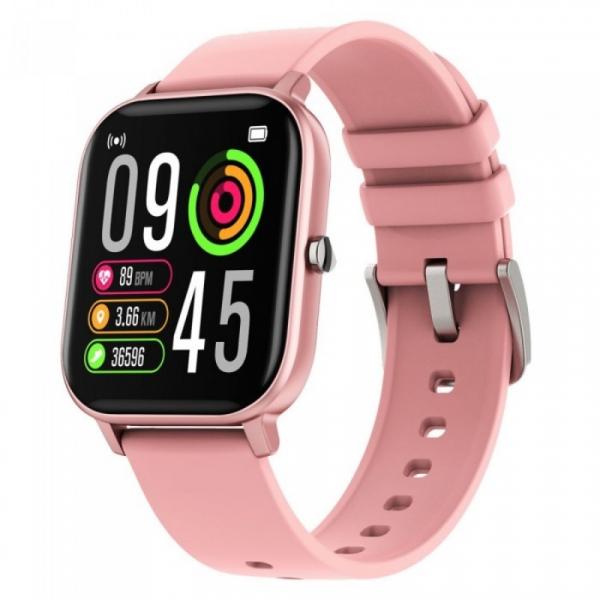 Smartwatch iHunt Watch ME Temp Pro 2021 Roz, 1.4 HD, Temperatura, Tensiune arteriala, Saturatie oxigen, Ritm cardiac, Calorii, IP67 imagine dualstore.ro 2021
