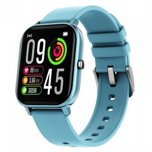 Smartwatch iHunt Watch ME Temp Pro 2021 Albastru, 1.4 HD, Temperatura, Tensiune arteriala, Saturatie oxigen, Ritm cardiac, Calorii, IP67 imagine dualstore.ro 2021
