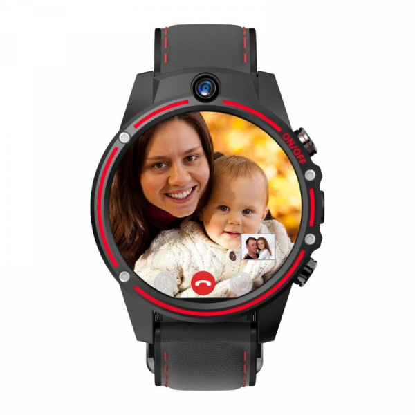 Smartwatch Kospet Vision 3/32 Negru cu Rosu 2