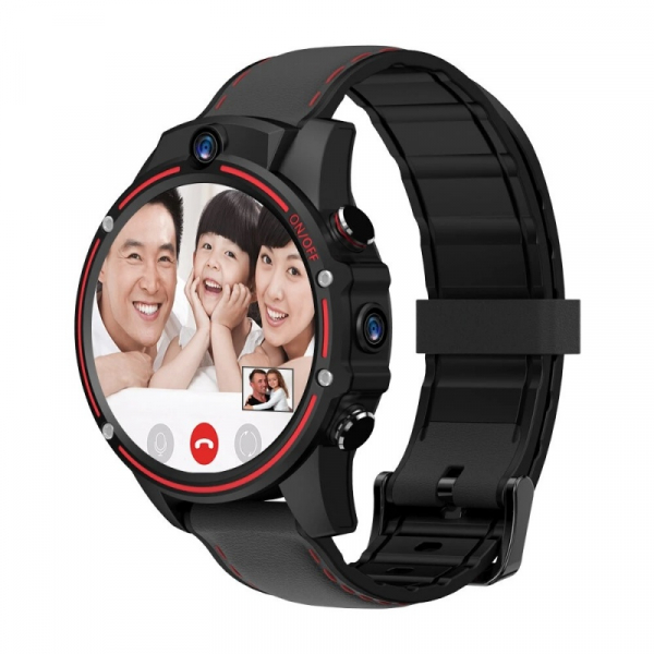 Smartwatch Kospet Vision, 4G, IPS 1.6 , 3GB RAM, 32GB ROM, Android 7.1.1, MTK6739 QuadCore, Wi-Fi, GPS, 800mAh, Negru cu Rosu imagine dualstore.ro 2021