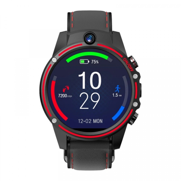 Smartwatch Kospet Vision 3/32 Negru cu Rosu 3