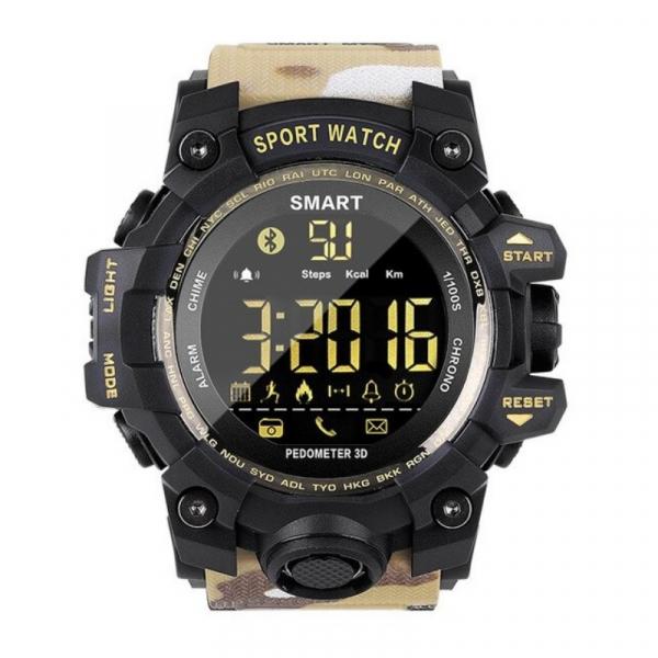 Smartwatch STAR EX16S, LCD FSTN iluminat, Waterproof IP67, Bluetooth v4.0, Baterie CR2032, Kaki camuflaj 1