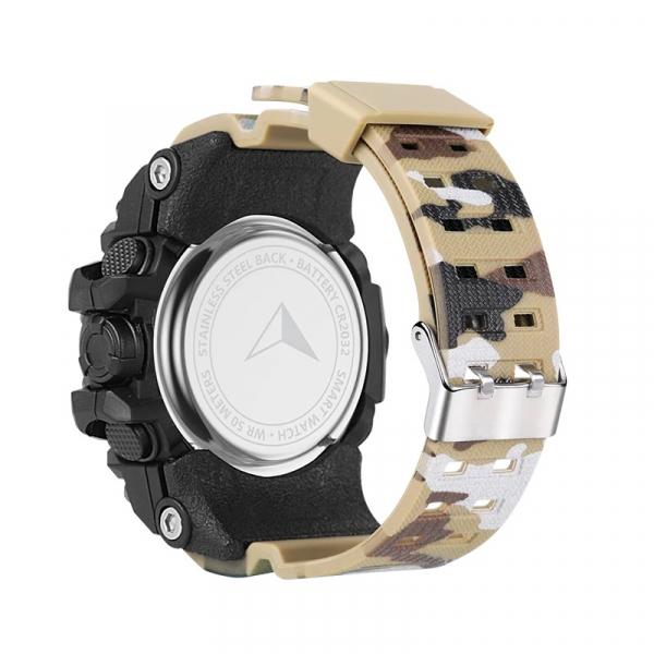 Smartwatch STAR EX16S, LCD FSTN iluminat, Waterproof IP67, Bluetooth v4.0, Baterie CR2032, Kaki camuflaj 3