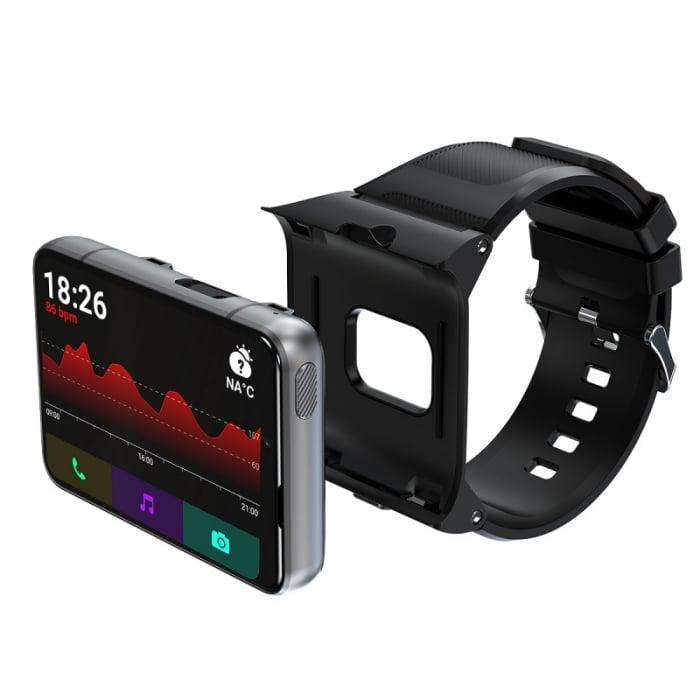 Smartwatch STAR S999 Negru, 4G, AMOLED 2.88 HD, 4GB RAM, 64GB ROM, Android 9, MTK6761 OctaCore, GPS, Ritm cardiac, Dual camera, 2300mAh imagine dualstore.ro 2021