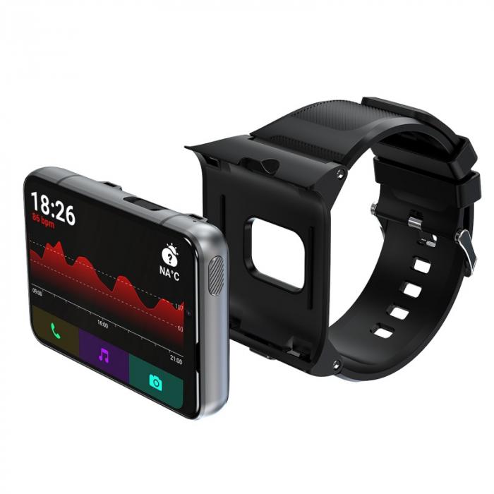 Smartwatch STAR S999 Negru Resigilat, 4G, AMOLED 2.88 HD, 4GB RAM, 64GB ROM, Android 9, MTK6761 OctaCore, GPS, Ritm cardiac, 2300mAh imagine dualstore.ro 2021