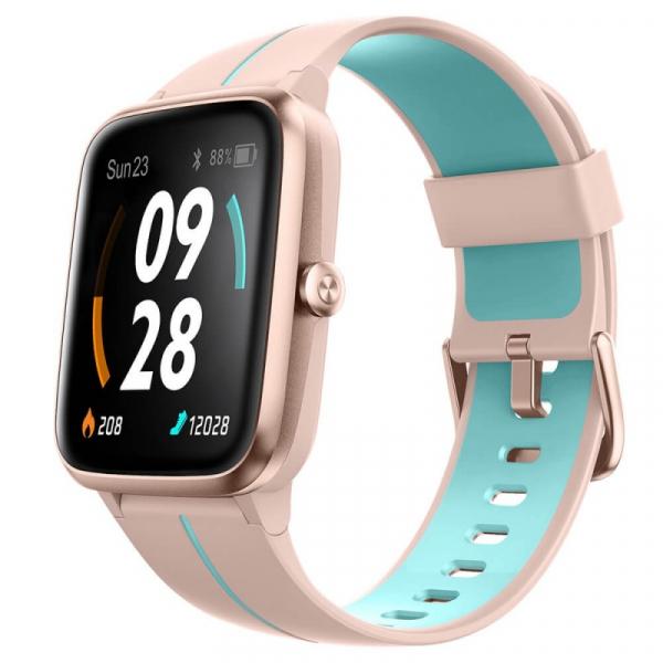 Smartwatch Ulefone Watch GPS Roz cu Albastru, TFT 1.3 touch screen, Ritm cardiac, Monitorizare Menstruatie, Waterproof, Meteo, 210mAh imagine dualstore.ro 2021