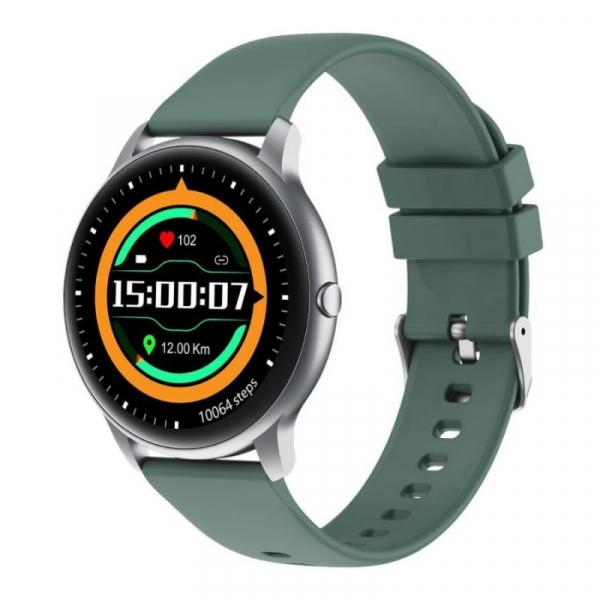Smartwatch Xiaomi IMILAB KW66, TFT HD 1.28 Touch Screen curbat 3D, Ritm cardiac, Bluetooth v5.0, IP68, 340mAh, Verde